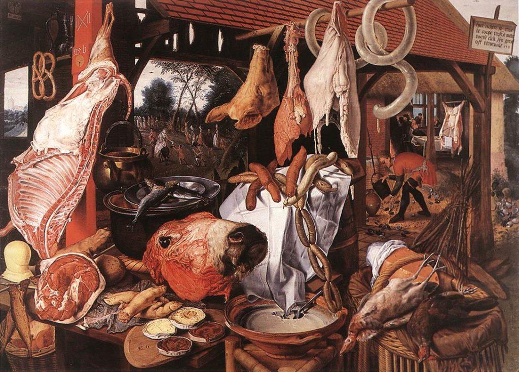Meat Seller's Stall, Pieter Aertsen, 1551, oil on panel